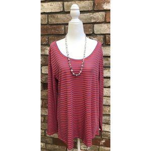 👓 Lularoe Striped Shirt Size L 👓